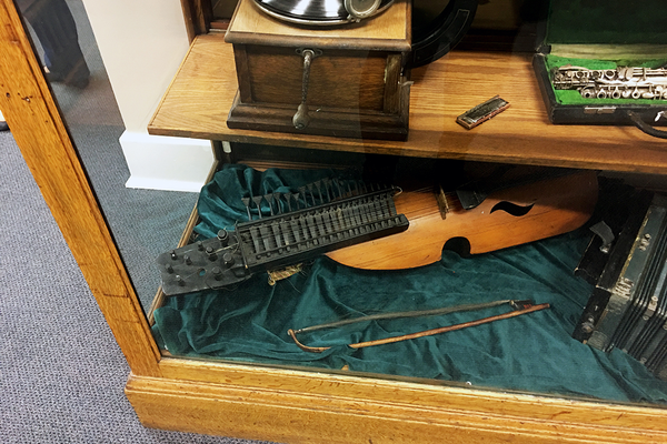 "A Swedish ""nyckelharpa"" is one of the rarest items in the Sandy Museum. (Kelly Cannon/City Journals)"