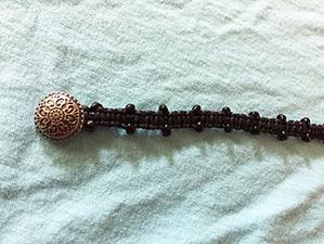 Medium j easley beaded macrame bracelet