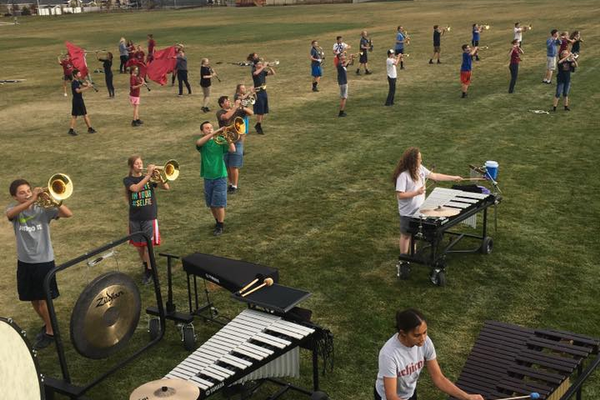 The Herriman High School Marching Band practices their 2016 show on school grounds. The band won the Red Rocks UMEA State Championships in St. George on Oct. 28 after switching band teachers for the third year in a row. (Herriman High School Band)