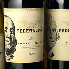 Medium the federalist wine label and package design 1