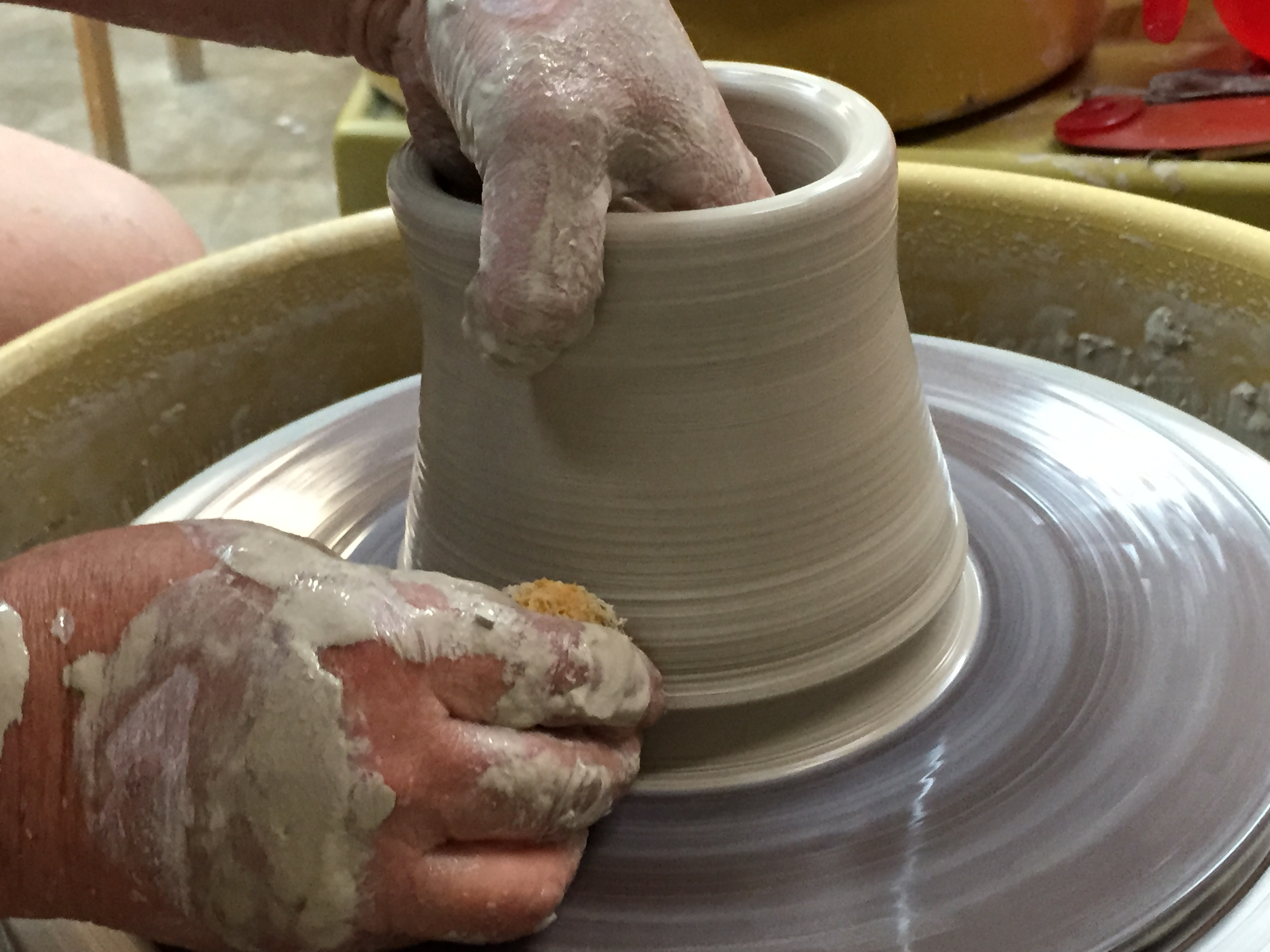 Pottery throwing demo chester county chester springs studio