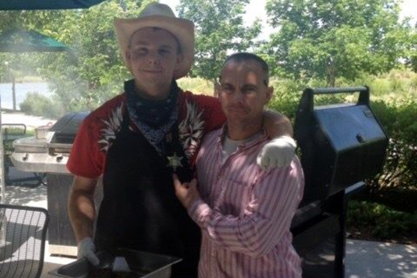Cody wears a cowboy hat with his dad, Jeff Brotherson. (Brotherson Family)