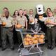 The Salt Lake County Sheriff's Office delivered hundreds of pumpkins to Hartvigsen School in Taylorsville on Oct. 26. (Taylorsville City)