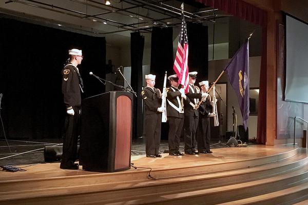 The flag ceremony was presented by the United States Naval Sea Cadets during the Veterans Day Program on Nov. 11 at the Utah Cultural Celebration Center. (Travis Barton/City Journals)