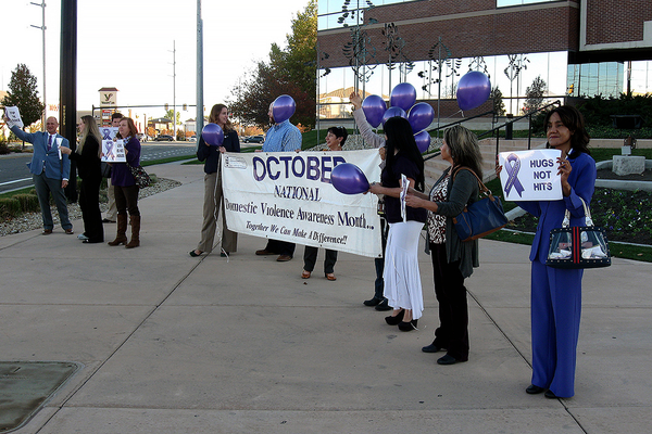Silent witnesses adorned the city hall lobby as West Valley City honored Domestic Violence Awareness Month.