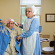 Lighthouse Pointe residents Tony and Louise as a pateint being tended to by Florence Nightingale