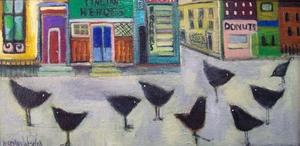 Medium city 20birds 2012x24 20oc 20500