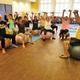 Pilates Class at the Senior Center.