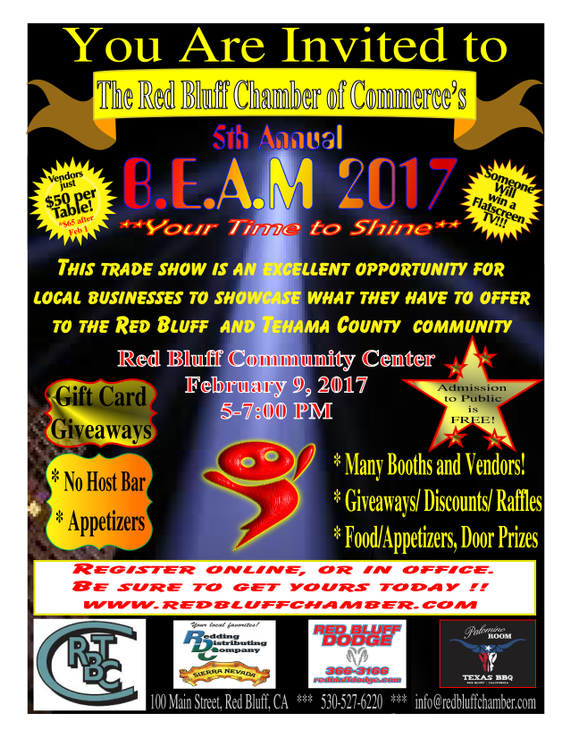 Red Bluff Dodge >> Red Bluff B E A M 5th Annual Business Expo And Mixer