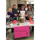 : PTSA officials ready to scoop out ice cream to Bingo winners. (Angie Swaney, PTSA Co-President)