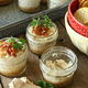Pigskin Party in Mini Jars Smoky Bacon Cheesecake with Gouda and Gruyere - 01252017 1130AM