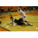 Junior Belle Jensen dives for a loose ball against Murray on Jan. 17. Jensen finished the game with 19 points. (Travis Barton/City Journals)