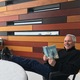 """Salt Lake Library Director Jim Cooper reads """"A Man Called Ove,"""" the book for the first United We Read. (Liz Sollis/Salt Lake County Library Services)"""