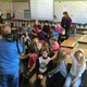Grant Elementary fourth-graders joined KUTV's Devon Lucie in his live segments of Good4Utah weather forecast. (Julie Slama/City Journals)