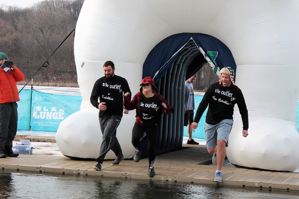 Maple Grove Polar Plunge Feb. 2, 2017 at Fish Lake Regional Park. (Photo by Wendy Erlien)