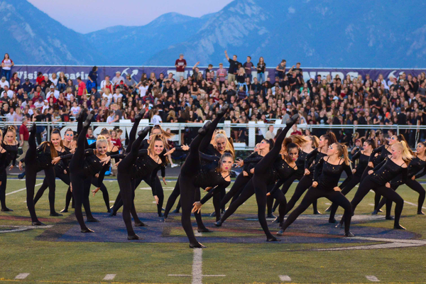 The Bingham drill team performs at a football game in 2016. (Jamyn Miller/Bingham High School)