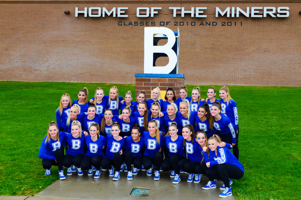 The Bingham Minerettes pose for a group photo. (Jamyn Miller/Bingham High School)