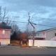 Broken power pole (Andrea Madsen/resident)