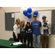 (Left to right) Kylie Auger, Sadie Brockbank, Ashley Cardozo, Ben Bywater and Sawyer Pierce come together for a photo just after signing to play with their intended colleges. (Olympus High School)