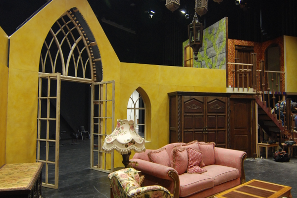 "The main view of the set of ""See How They Run."" (Keyra Kristoffersen/City Journals)"