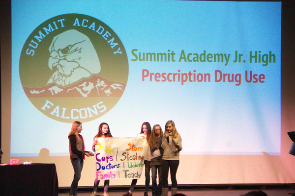 During Draper's Communities Talk, a student-led prevention education forum, Summit Academy students addressed how Utah is No. 4 in the country in prescription drug abuse during Draper's Communities Talk: a student-lead prevention education forum. (Julie Slama/City Journals)