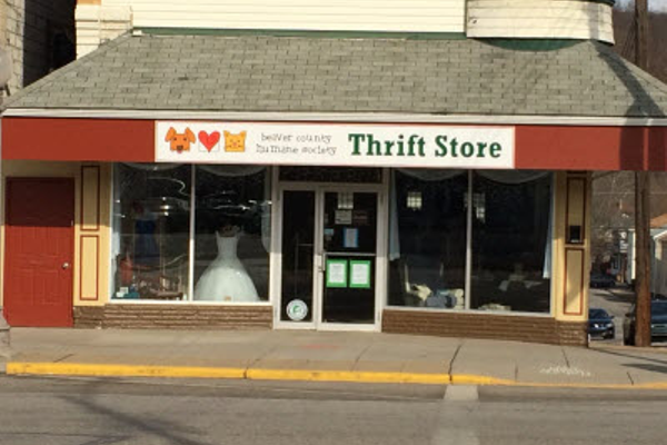 The Beaver County Humane Society's thrift store in Beaver Falls
