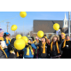Riverton High School's suicide prevention group, the Hope Squad, releases balloons on the northeast corner of Redwood Road and 12600 South in a ceremony to raise awareness of teen suicide. (McKara Warr/Riverton Hope Squad)
