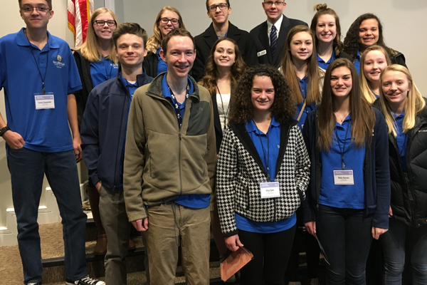 Fifteen members of the Taylorsville Youth Council visited the state capitol for Local Officials Day at the Legislature. (Taylorsville City)