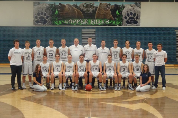 The 2017 Copper Hills boys basketball team is hoping to return to the state finals again this year. (Andrew Blanchard/Copper Hills boys basketball)