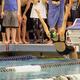 Freshman Uso Tagoai begins the 100-yard backstroke breaststroke at the 4A state championships. (Travis Barton/City Journals)