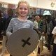 Longview third-grader Hannah Bowen explored all the rooms in the cardboard fortress with her classmates during the school's red and white ribbon week. (Julie Slama/City Journals)