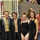 Highland High swimmers pause for a photo during their region meet. (Cindy Nordstrom/Highland swim team)