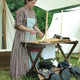 A cooking demonstration during 'Life in the 1860s Day,' which this year slated for July 8.