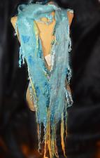 Medium skinny locks turquoise scarf2 web