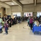 Families eat and read together at the Books and Bagels Breakfast. (Emily Burningham/Driggs PTA)