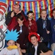 Sixth-grade students get festive with Cat in the Hat. Back row (L-R): Ryan G., Josh C., Jonathan H., Jackson V., Evan P. Front row (L-R): Will C., Will R.(Emily Burningham/Driggs PTA)