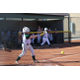 "An Olympus softball player connects with a pitch. Head coach Madison White described the team as a ""scrappy bunch who work hard."" (Travis Barton/City Journals)"