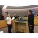 Jared Hubbard is sworn in as a captain/paramedic during a special presentation at city council. (Kelly Cannon/City Journals)