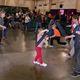 Kids of all ages do battle in a tournament of foam bats to demonstrate their sword skills.(Keyra Kristoffersen/City Journals)