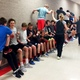 Alta's boys tennis team attempts a challenge during a team-building exercise. (Krista Anderson/Alta High School)