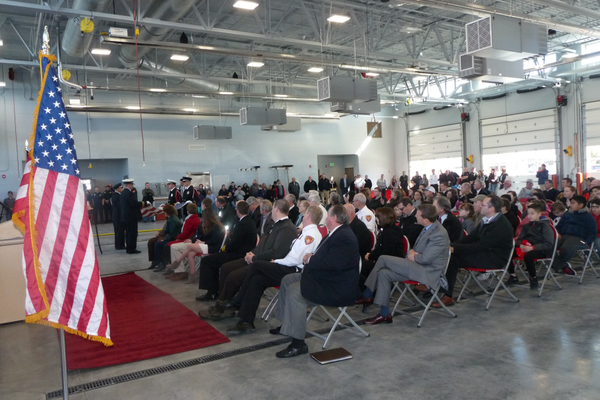 About 200 people attended the Taylorsville-Plymouth Fire Station #117 grand opening. (Carl Fauver/City Journals)
