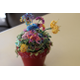 A 3-D tatted flower arrangement created by Taylorsville resident Dawn Steinike.