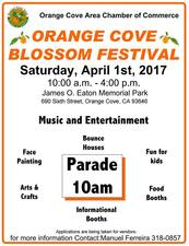 Orange Cove Blossom Festival - start Apr 01 2017 1000AM