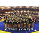 Hillcrest High School cheer squad celebrates their region title. (Candice Simmons/Hillcrest Cheer)