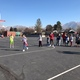 Members of the U's women's basketball team run drills with Pulley's class. (Teacher/Amber Pulley).