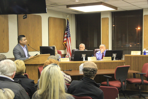 Fidel Crespin, a representative for property owners involved in the land acquisition by the city for downtown development, speaks to the Murray City Council about the issue. (Mandy Ditto/City Journals).