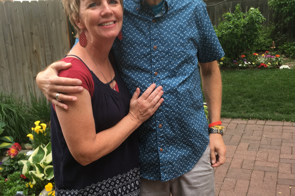 Wendy Weixler posing with Tom Rugh, the man who inspires her to run and raise money for cancer. (Wendy Weixler)
