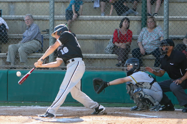 Murray High School baseball standout Pierce Kettering scores a hit. (Glossy Sports Photos)