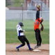 Murray High School softball second baseman Sophie Richmond leaps for a throw. (Glossy Sports Photos)