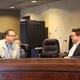 Micah Bruner (left) and Matt MacPherson speak prior to the public meeting for the West Valley City PSRB. (Travis Barton/City Journals)